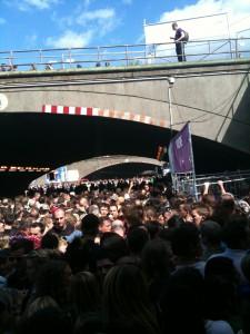 Tunnel zum Loveparade Gelände um 16.19