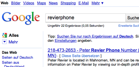 reVierphone Google Rankings vorher