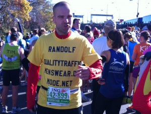 Randolf at the NYC Marathon Start